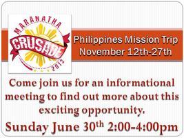 Marantha Crusade-Philipines Informational Meeting
