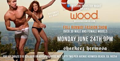 Fashion Industry Night Presents Wood Underwear- 30 Models, Men...