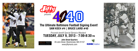 4-40 Autograph Signing with Sam Koch and Bruce Laird