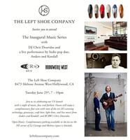 The Left Shoe Company Inaugural Music Series with KCRW
