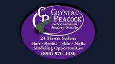 The Crystal Peacock 24Hour International Beauty Studio logo