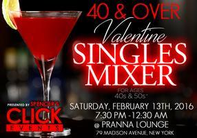 Valentine Singles Happy Hour- 40's & 50's  Singles