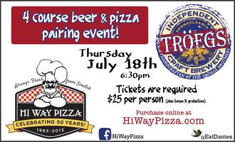 HiWay Pizza & Tröegs Beer Pairing Event