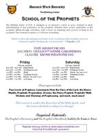 School of the Prophets Session II
