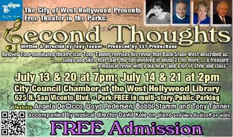 Tony Tanner's Second Thoughts Revue