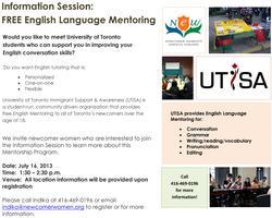 Information Session: Free English Language Mentoring...