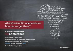 Africa's Scientific Independence: how do we get there?