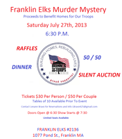 Murder Mystery Dinner to benefit Homes for Our Troops