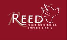 REED (Resist Exploitation, Embrace Dignity) logo