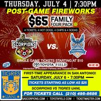 Tailgate Party & Scorpions vs Carolina Railhawks