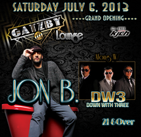 JON B. & DW3 PERFORMING LIVE & PARTY W/LIVE DJ