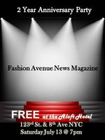 FREE - 2 YEAR FASHION AVENUE NEWS MAGAZINE PARTY