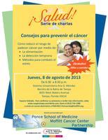 ¡Salud! Serie de charlas: Consejos para prevenir el cáncer....