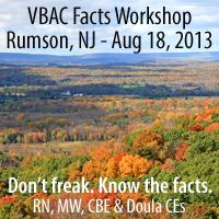 New Jersey VBAC Facts Workshop with Jen Kamel