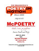 Poetry in Motion: McPoetry Reading & End of Season...