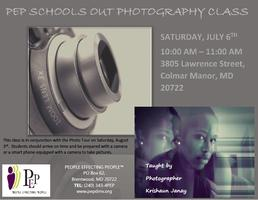 PEP SCHOOLS OUT PHOTOGRAPHY CLASS