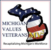 Michigan Values Veterans logo