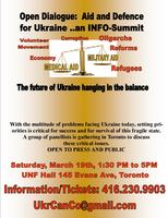 Open Dialogue: Aid and Defence for Ukraine. An Info-Summit