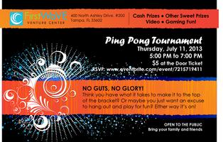 FirstWaVE Official Ping Pong Tournament