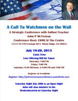 A Call Watchmen on the Wall!!!  As America Has Done to...