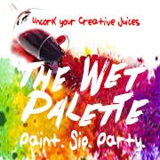The Wet Palette Paint Parties logo