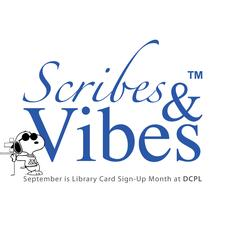 #LibraryCardMonth w/@scribesandvibes logo