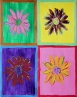 Family Day - Warhol's Wall Flowers - Color Me Mine - 7-21-13