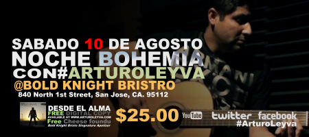Noche Bohemia con Arturo Leyva
