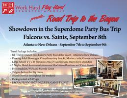 Road Trip to the Bayou: Falcons Vs. Saints Sept 8th