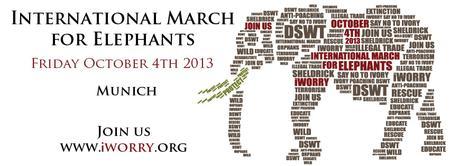 Internationaler Marsch für Elefanten - MÜNCHEN