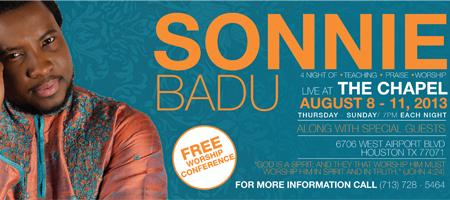 Teach me how to worship conference with Sonnie Badu