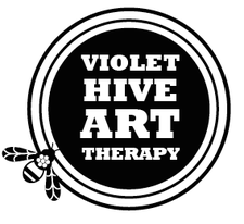 Violet Hive Art Therapy and Healing logo
