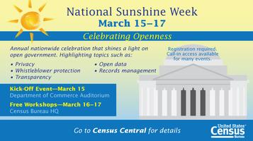 Sunshine Week Kickoff Event - Celebrating Openness
