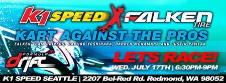 K1 Speed // Falken Tire – Kart Against The Pros!