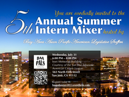 BAAPALS 5th Annual Summer Intern Mixer