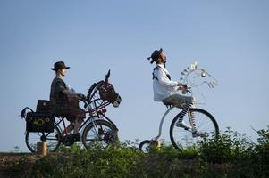 The adventures of Don Quixote by bicycle