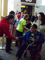 Greet Honor Flight--September 7, 2013