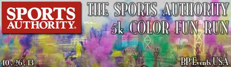 The Sports Authority 5k Color Fun Run
