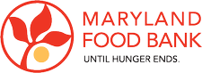 Maryland Food Bank and the University of MD Carey School of Law logo