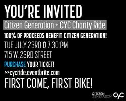 CYC Fitness Charity Ride Benefiting Citizen Generation