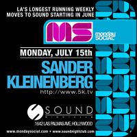 Sander Kleinenberg at Sound July 15th FREE b4 11p on...