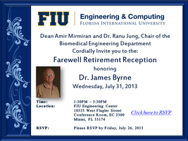 Dr. James Bryne Retirement Reception