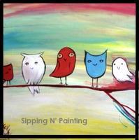 Sip N' Paint 5 Little Owls Sat June 16 4pm
