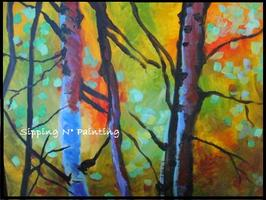Sip N' Paint Forest Glow Sat June 23 4pm