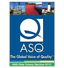 American Society for Quality - ASQ Olde Colony Section 111 logo