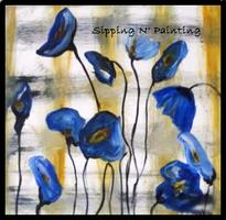 Sip N' Paint Blue Poppies Wed June 27 6pm