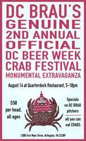 DC BRAU's Genuine 2nd Annual DC Beer Week Crab Fest at...