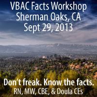 Sherman Oaks VBAC Facts Workshop with Jen Kamel
