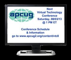 APCUG 2013 Summer Virtual Technology Conference