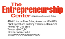 The Entrepreneurship Center at Washtenaw Community College logo